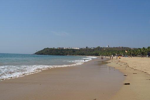 Beach, Sea, Arabian, Goa, Bogmalo, India