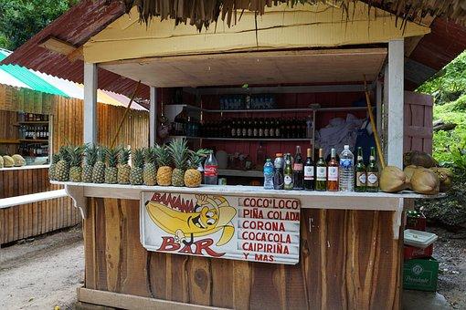 Pineapple, Bar, Coconuts, Coco Loco, Caribbean, Drink