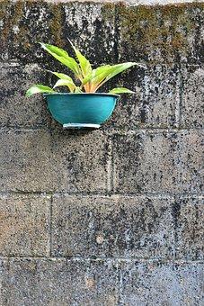 Negative Space, Flower Pot, Hand Made Pot, Hanging Pot