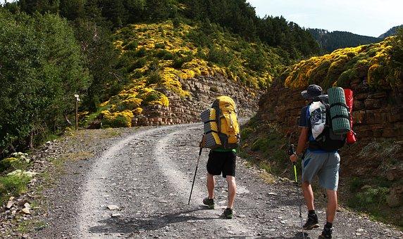 Hike, Backpack, Backpackers, Walking, Mountains