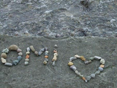 Stones, Message, Text, Heart, Love, Thank You