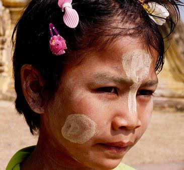 Look, Myanmar, Thanaka, Solar Protection, Portrait