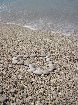 Beach, Detail, Heart, Love, Message, Nature, Ocean