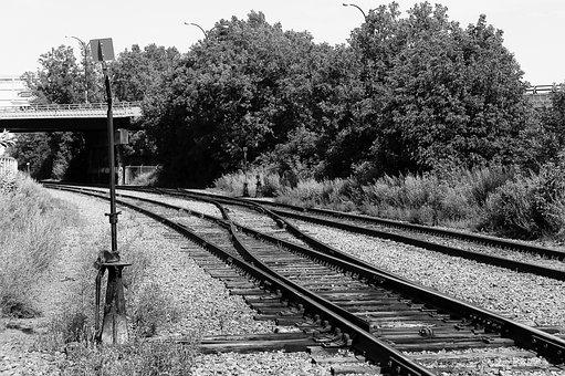 Railway, Black And White, Montreal