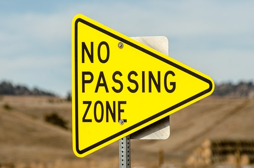 No Passing Zone, Sign, Triangle, Traffic Sign, Traffic