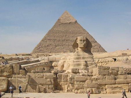 Sphinx, Pyramids, Cheops, Chephren, Cairo, Travel