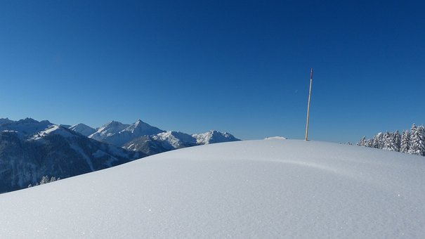 Tyrol, Tannheimertal, Gaishorn, Iseler, Winter
