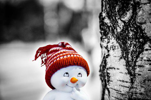 Snowman, Smile, Consider, Wag, Prank, Plan, Deceitful