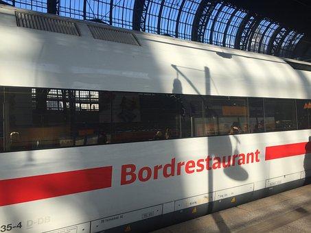 Train, Railway Station, Hamburg, Central Station, Wagon