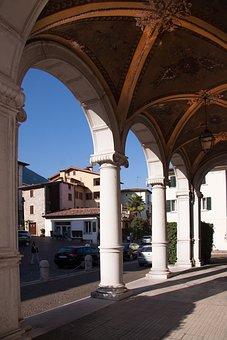 Loggia, Villa, Architecture, Italy, Cover Painting