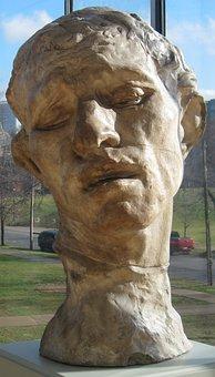 Bust, Head, Pierre, De, Wissant, Plaster, Auguste