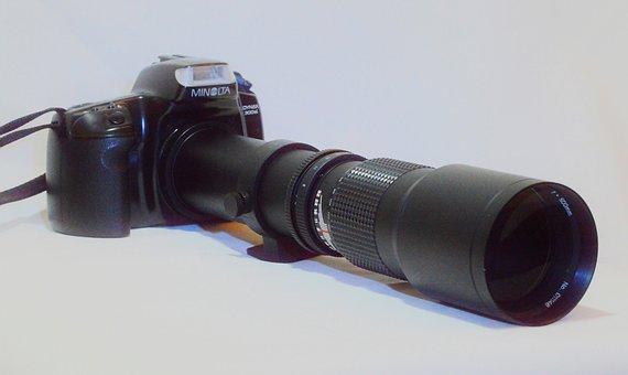 Lens, Tele, 500 Mm, Camera, Minolta, Slr, Photography