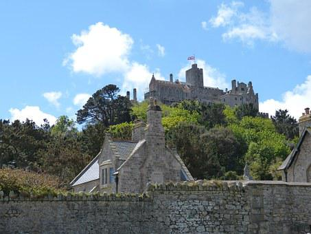 England, Cornwall, Mount, St Michael, Castle, Fortress