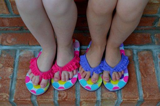 Children, Children Feet, Girls, Girls Feet, Shoes