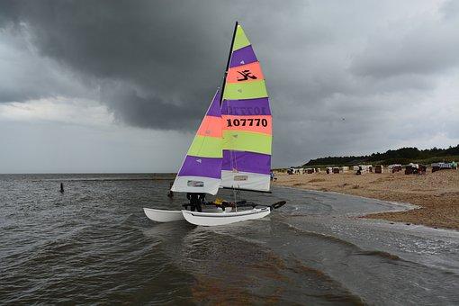 City, Beach, Holiday, Sea, Water, Bank, Boats