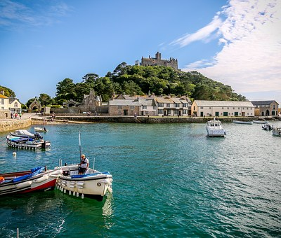 St Michaels Mount Harbour, Harbour, Coast, Beach
