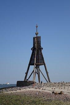 Kugelbake, North Sea, Cuxhaven, Duhnen, Lighthouse