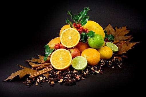 Autumn, Fall, Fruit, Citrus, Apple, Orange, Lime, Holly