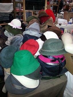 Market, Flea Market, Second Hand, Hats, Sales