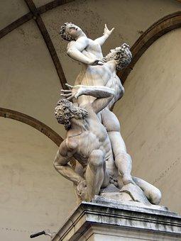 Italy, Florence, Loggia Dei Lanzi, Sabines, Giambologna