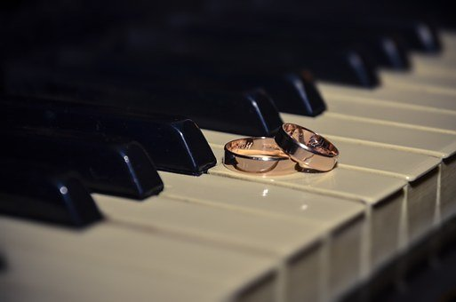 Ring, Wedding, Wedding Rings, Piano, Marriage, Gold