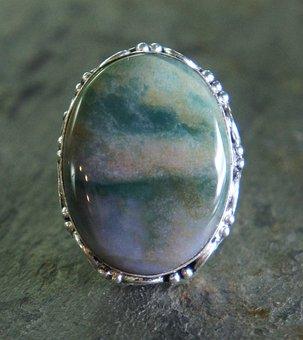 Green Jasper Ring, Silver, Metal, Jewelry, Jewel, Stone