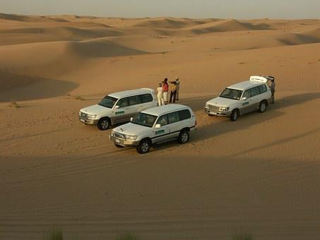 Desert, All Terrain Vehicle, Jeeps, Safari, Sand, Dunes