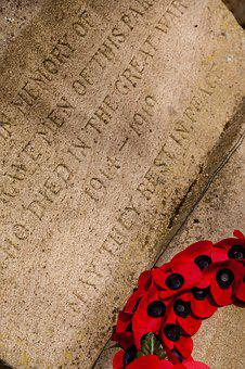 War Memorial, Wreath, Poppy, Memorial, War, Military