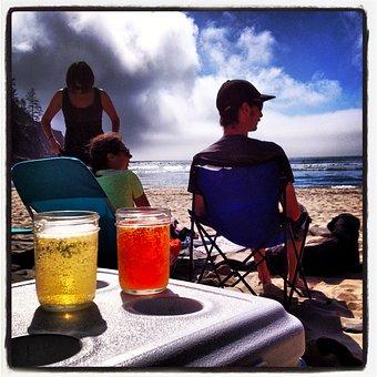 Beer, Relaxing, Beach, Homebrew, Summer, Resting