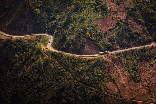 Road, Truck, Curve, Transportation, Transport, Highway