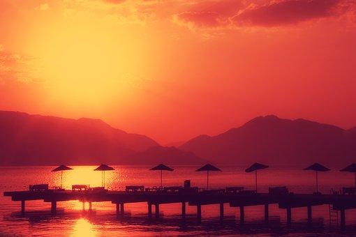 Vacation, Sea, Mountains, Beach, Tourism, Landscape
