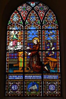 Stained Glass Window, Religion, Window, Saint Anthony