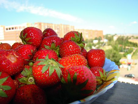 Strawberry, Berry, Red, Appetizing, Tasty, Loggia, Sun