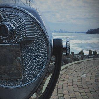 Telescope, Looking, View, Binoculars, Optics, Vintage