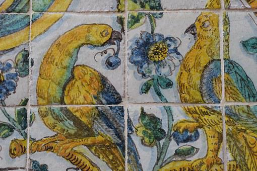 Ceramic, Tiles, Tile, Decorative, Birds, Handpainted