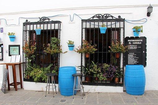 Tavern, Boozer, Bar, Blue, Drum, People, Street