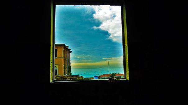 Sea, Light, Colors, Black, Window, Cologne, Motta