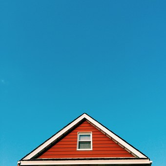 Roof, Scandinavia, Red, Building, House, Colorful