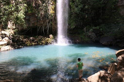 Hiker, Cascade, Costa Rica
