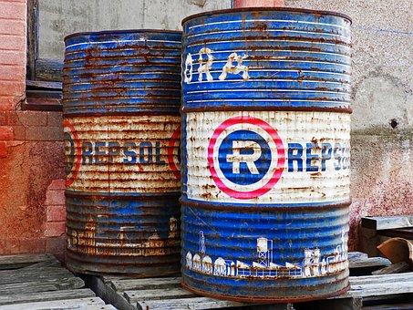 Drums, Fuel, Barrels Of Oil, Old, Rusty