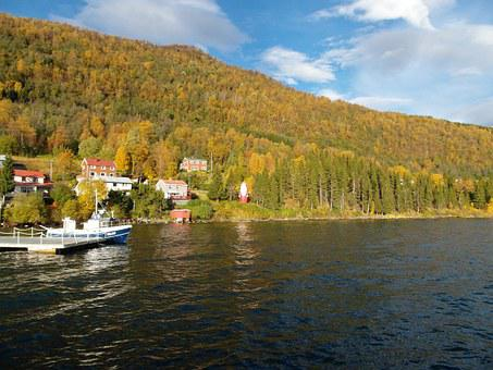 Norway, Fjord, Ferry, Travel, Water, European
