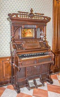 Antique Piano, Hotel Astoria, Italy, Decoration, Old
