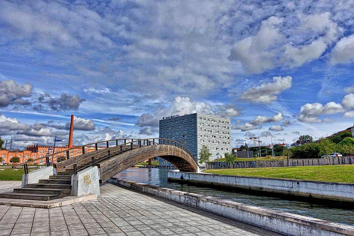 Bridge, Crossing, Pathway, Over, Canal