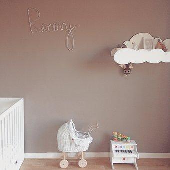 Room, Child, Bed, Piano, Landeau, Stroller