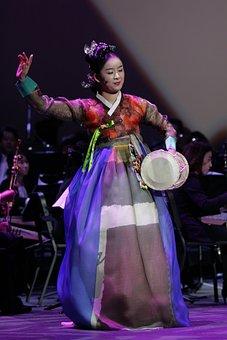 Korean Handy Drum, Music, Player, Show, Dance