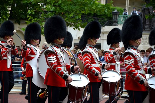 Guards, Queen, Parade, Drums, Drummer, Music, Band