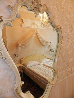 Mirror, Wall Mirror, Hotel Rooms, Room, Hotel, Sleep