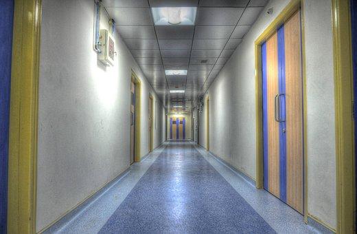 Hospital, Alley, Aisle, Rooms, Wards, Corridor