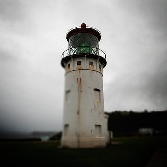 Kawaii, Lighthouse, Focus, Rust, Coast, Seaside