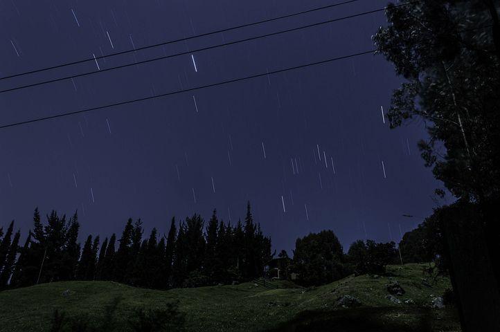 Night, Plazuela, Star, Expose, Night Sky, Sky